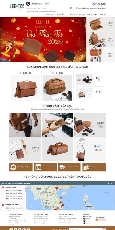 Mẫu thiết kế website bán hàng leeandtee.vn-Lee&Tee – Túi xách thương hiệu Việt – Túi da thời trang