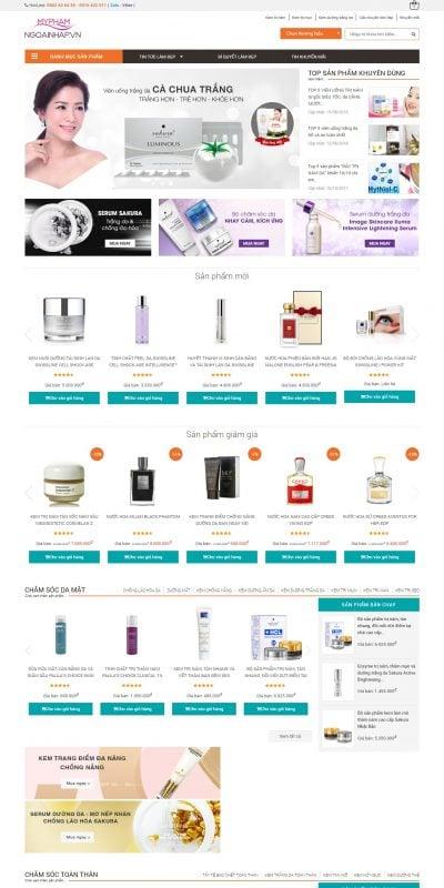 Mẫu thiết kế website bán hàng myphamngoainhap.vn-Mỹ Phẩm Ngoại Nhập từ Nhật Bản, Mỹ, Hàn Quốc