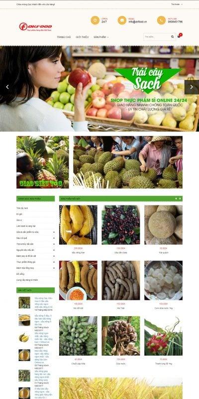 Mẫu thiết kế website bán hàng okfood.vn-Okfood – thực phẩm hàng đầu Việt Nam – www.okfood.vn