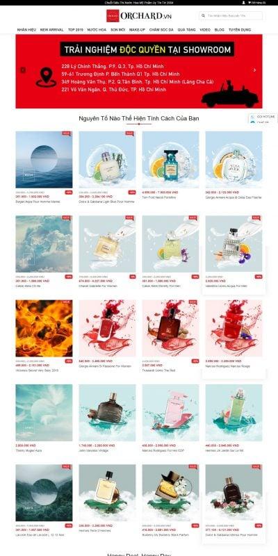 Mẫu thiết kế website bán hàng orchard.vn-Orchard Trung Tâm Thế Giới Nước Hoa Nhập Khẩu Giá Tốt