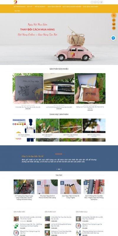 Mẫu thiết kế website bán hàng quatangmunus.com-Munus – Quà Tặng Đẳng Cấp
