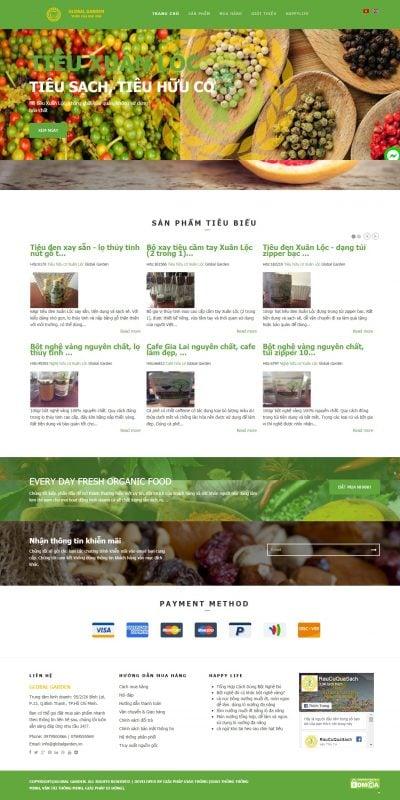 Mẫu thiết kế website bán hàng raucuquasach.com-Global Garden – Vườn của mọi nhà_ Kinh doanh các loại thực phẩm hữu cơ