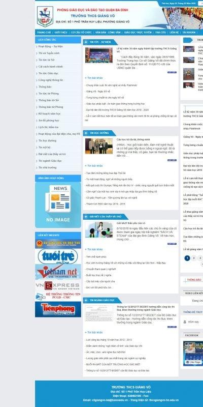 Mẫu thiết kế website trường học – thcsgiangvo-hn.edu.vn-Trường THCS GIẢNG VÕ