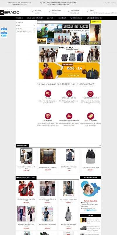 Mẫu thiết kế website bán hàng thoitrangdocla.vn-Shop balo Độc Lạ tại TPHCM – Đổi trả 365 Ngày – Bảo hành Trọn Đời_