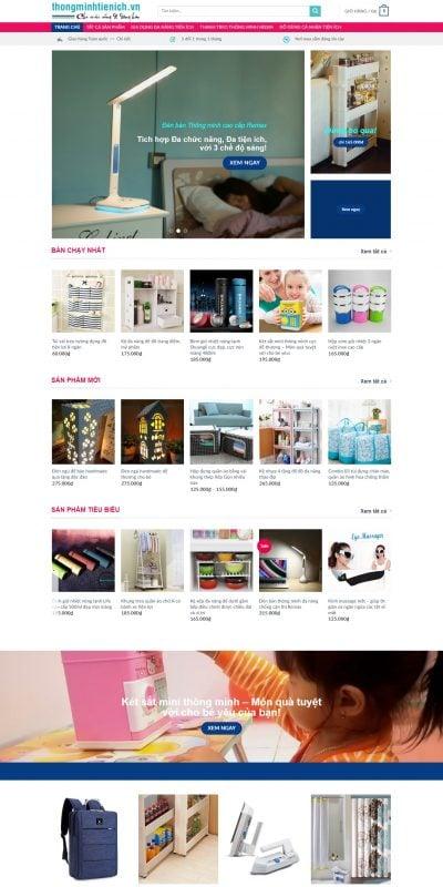 Mẫu thiết kế website bán hàng thongminhtienich.vn-Chuyên các sp Thông minh Tiện ích, Gia dụng Đa năng