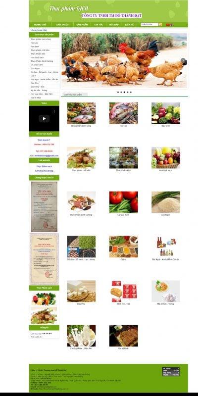 Mẫu thiết kế website bán hàng thucphamsachhaiphong.com.vn-Thực phẩm sạch hải phòng