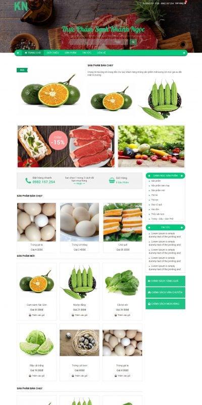 Mẫu thiết kế website bán hàng thucphamsachkhanhngoc.com-Thực Phẩm Sạch Khánh Ngọc – Thực Phẩm Sạch Khánh Ngọc
