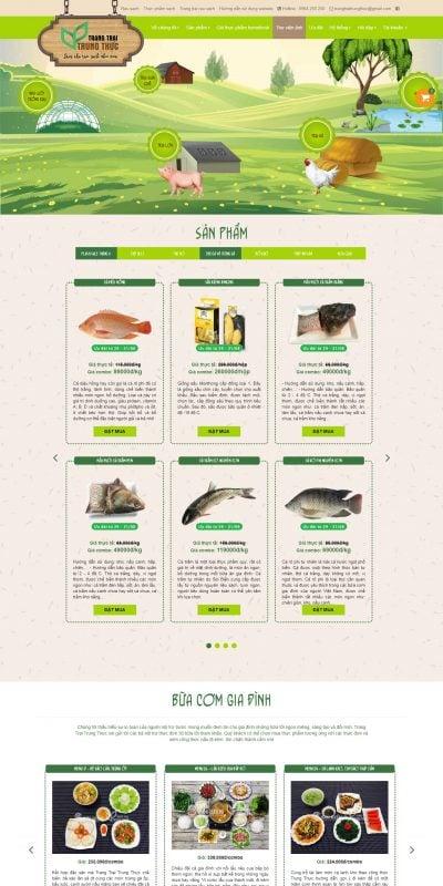 Mẫu thiết kế website bán hàng trangtraitrungthuc.com-Trang Trại Trung Thực – Thực phẩm sạch – Rau sạch Hà Nội