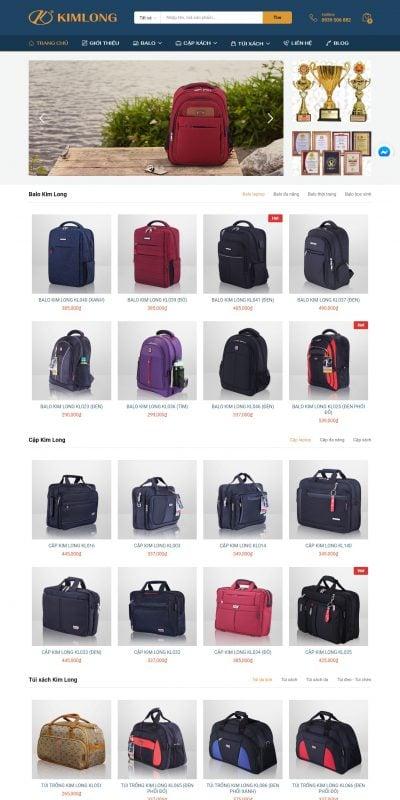 Mẫu thiết kế website bán hàng