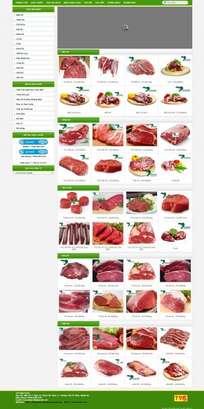 Mẫu thiết kế website bán hàng tutamfood.com-Thực phẩm sạch Từ Tâm Hoàng Ánh tại TP Vinh Nghệ An