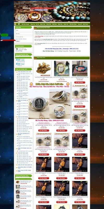 Mẫu thiết kế website bán hàng vongtayphongthuy.top-Chuyên Bán Vòng Tay Phong Thủy Đá Tự Nhiên Giao Hàng Miễn Phí