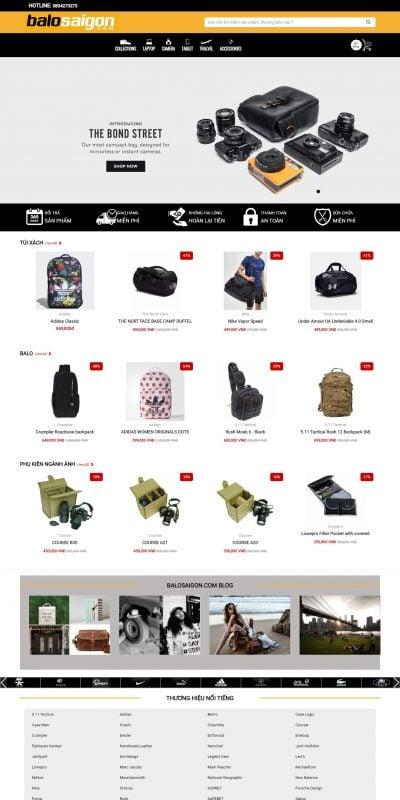 Mẫu thiết kế website bán hàng www.balosaigon.com-Balo Sài Gòn – Hệ thống cửa hàng Balo ,Túi , Phụ Kiện Online đầu tiên tại Việt Nam