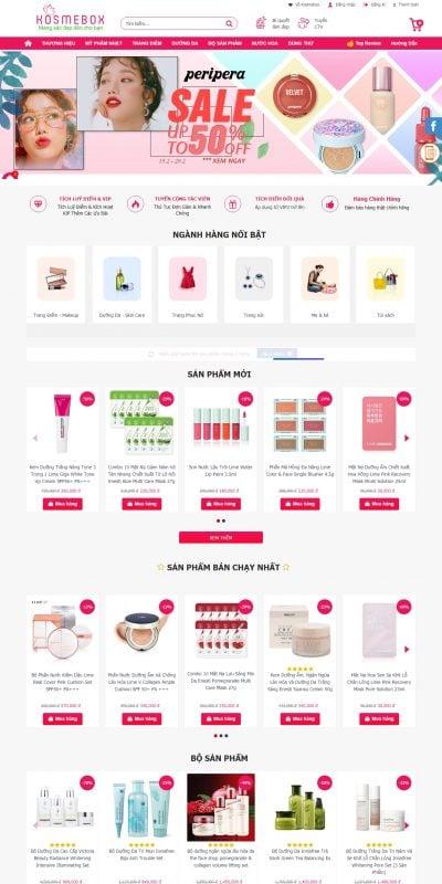 Mẫu thiết kế website bán hàng www.kosmebox.com-Kosmebox – Mỹ Phẩm Chính Hãng Uy Tín Giá Tốt Nhất …