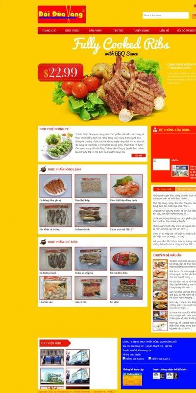 Mẫu thiết kế website bán hàng www.thucphamsach.vn-Thuc pham sach