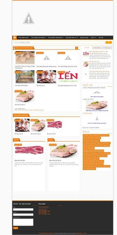 Mẫu thiết kế website bán hàng www.tienphatco.com-Thực phẩm sạch Tiến Phát, Thực phẩm đông lạnh, Thực phẩm nhập khẩu, Thực phẩ_