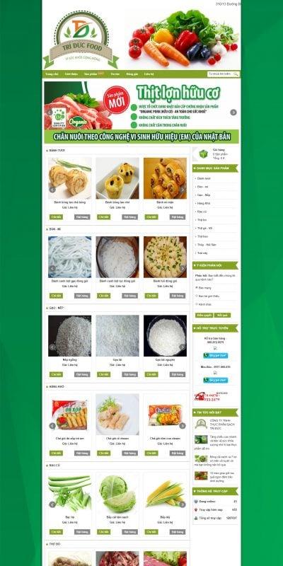 Mẫu thiết kế website bán hàng www.triducfood.com-Công Ty TNHH Thực Phẩm Sạch Trí Đức