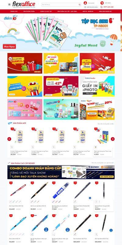 Mẫu thiết kế website bán hàng www.flexoffice.com-Trang thương mại điện tử thuộc Thiên Long Group – FlexOffice – Thiên Long gr
