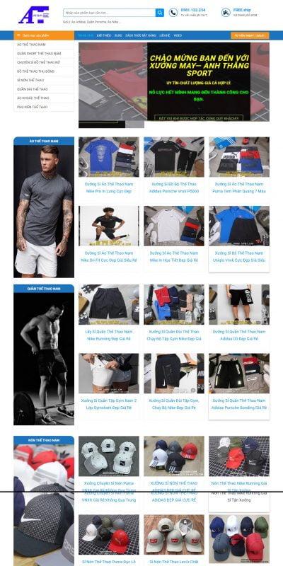 Mẫu thiết kế website bán hàng anhthangsport.com-Anh Thắng Sport – Chuyên Sỉ Đồ Thể Thao Cao Cấp