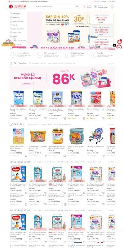 Mẫu thiết kế website bán hàng bibomart.com.vn-Bibo Mart – Hệ thống cửa hàng Mẹ và bé số 1 Việt Nam