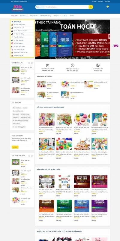 Mẫu thiết kế website bán hàng dochoimaugiao.vn-Đồ chơi thông minh – Thế giới đồ chơi gỗ cho bé – I-kids Store