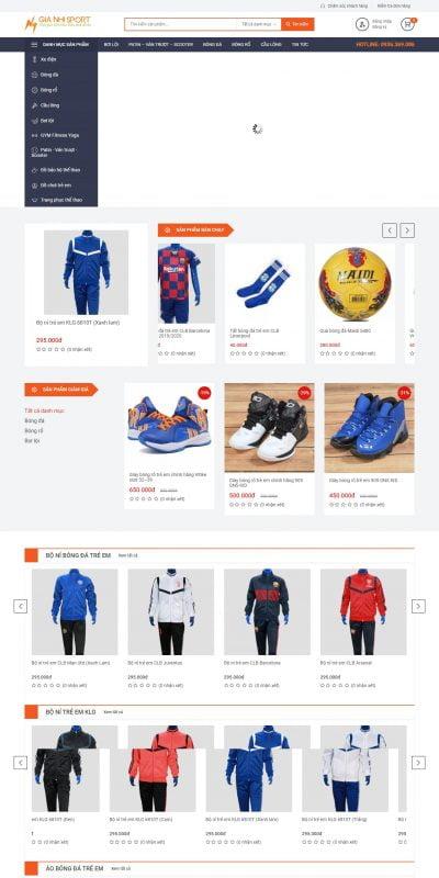 Mẫu thiết kế website bán hàng gianhisport.com-Gianhisport.com – Đồ thể thao đồ chơi trẻ em chính hãng – Phân phối đồ