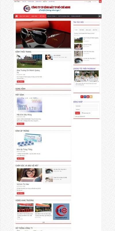 Mẫu thiết kế website bán hàng hcmoptic.com.vn-CÔNG TY CP KÍNH MẮT TP HỒ CHÍ MINH – Cảm nhận chân thực từ đôi mắt
