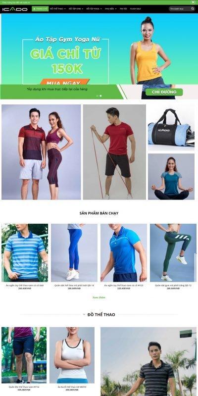 Mẫu thiết kế website bán hàng icado.vn-Icado™ – Thương hiệu đồ tập thể thao số 1 Việt Nam – Chất lượng cao