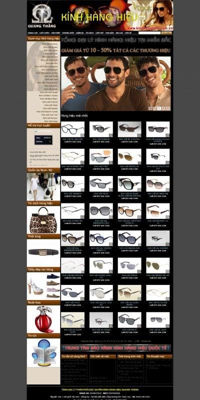 Mẫu thiết kế website bán hàng kinhhanghieu.com.vn-Kinh mat thoi trang, kinh thuoc thoi trang, kinh thoi trang hang hieu