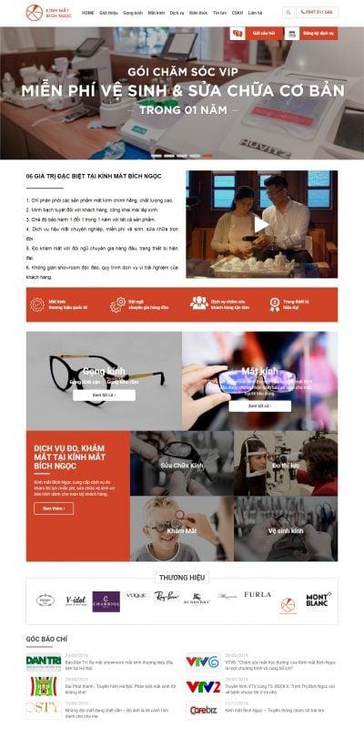 Mẫu thiết kế website bán hàng kinhmatbichngoc.vn-Kính Mắt Bích Ngọc – Cửa hàng kính mắt uy tín và tốt nhất Hà Nội_