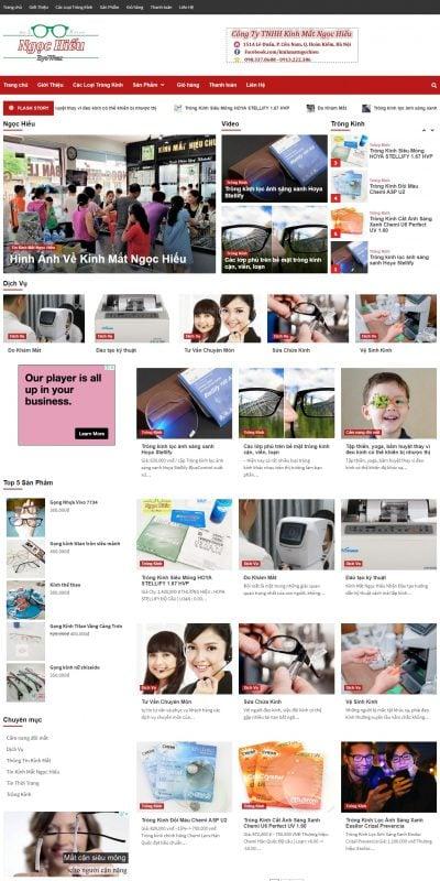 Mẫu thiết kế website bán hàng kinhmatngochieu.com-Kính Mắt Ngọc Hiếu 151 Lê Duẩn, Hoàn Kiếm, Hà Nội