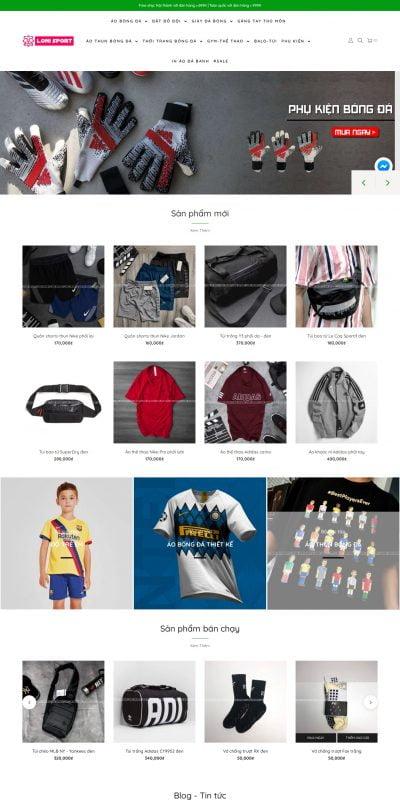 Mẫu thiết kế website bán hàng lonisport.com-LONI SPORT