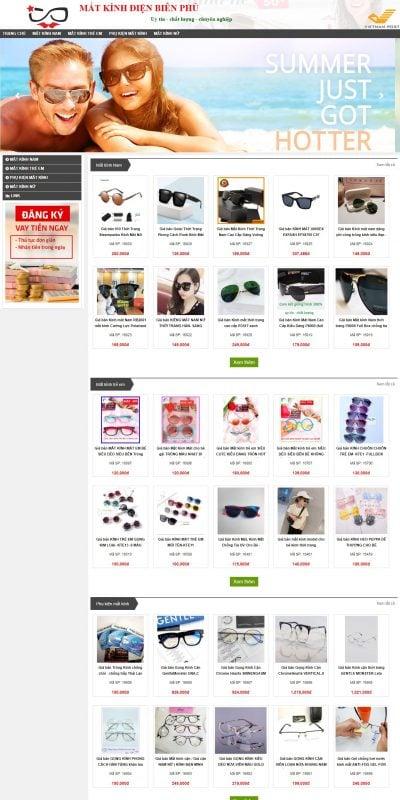 Mẫu thiết kế website bán hàng matkinhdienbienphu.net-Mắt Kính Điện Biên Phủ