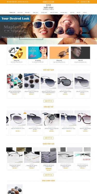 Mẫu thiết kế website bán hàng matkinhhanghieu.com-Mắt Kính Hàng Hiệu – Mắt Kính Thời Trang – Gọng Kính – Tròng Cao Cấp