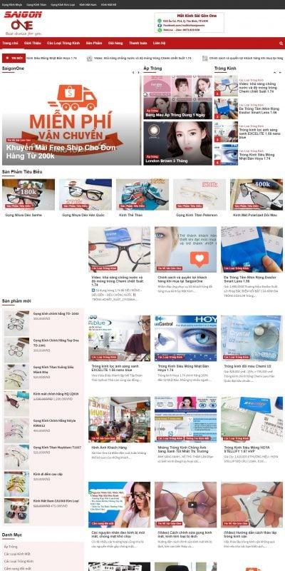 Mẫu thiết kế website bán hàng matkinhsaigonone.com-Mắt Kính Sài Gòn One – Địa Chỉ Tốt Nhất TP.HCM