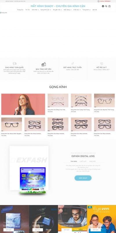 Mẫu thiết kế website bán hàng matkinhshady.com-_Gọng Kính Đẹp HCM_ – _Kính Mát Đẹp HCM_ – Cửa Hàng Mắt Kính tại HCM
