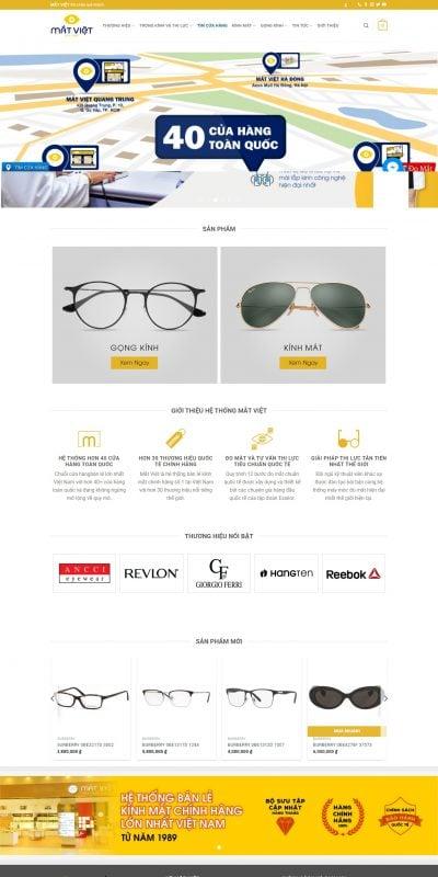 Mẫu thiết kế website bán hàng matviet.vn-Mắt Việt – Chuyên gia về thị lực – Đo kiểm tra mắt và kính mắt