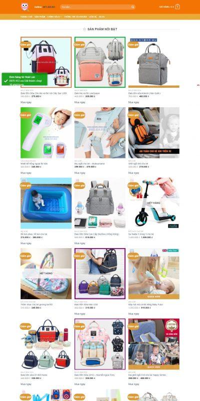 Mẫu thiết kế website bán hàng mevabe.vikiot.com-Sản Phẩm Cho Mẹ và Bé Chất Lượng Cao – MevaBe.Vikiot.com