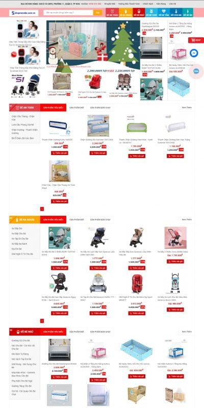 Mẫu thiết kế website bán hàng shopmevabe.com.vn-Shop Mẹ và Bé -Khuyến mãi hấp dẫn,Mua bán đảm bảo