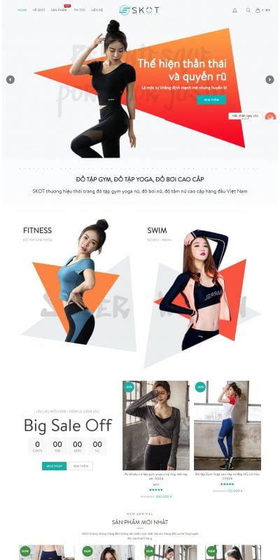 Mẫu thiết kế website bán hàng skot.vn-SKOT – Thương hiệu Đồ tập Gym Yoga nữ, Đồ bơi nữ, Phụ kiện thể thao