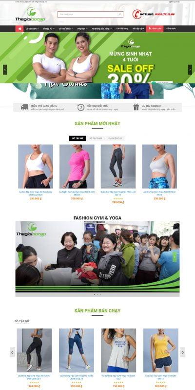 Mẫu thiết kế website bán hàng thegioidotap.vn-Thegioidotap_ Chuỗi Cửa hàng đồ tập Gym, Yoga ,Thể Thao Cao Cấp Toàn Quốc