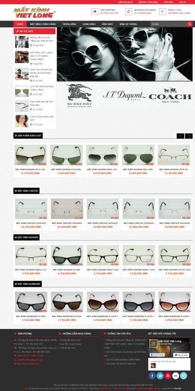 Mẫu thiết kế website bán hàng thegioimatkinh.com-Mắt Kính Việt Long, Mắt kính chính hãng – Cung cấp mắt kính hàng hiệu giá tốt