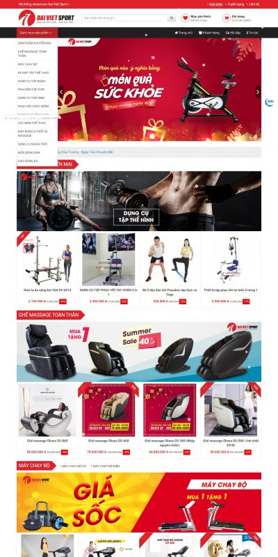 Mẫu thiết kế website bán hàng thethaodaiviet.com-Nhà phân phối đồ thể thao hàng đầu – ĐẠI VIỆT SPORT