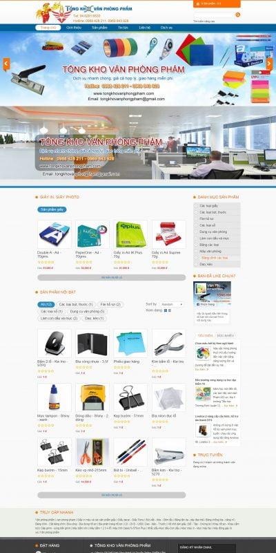 Mẫu thiết kế website bán hàng tongkhovanphongpham.com-Văn phòng phẩm Tổng Kho, van phong pham o Ha Noi – Tổng Kho Văn Phòng Phẩm