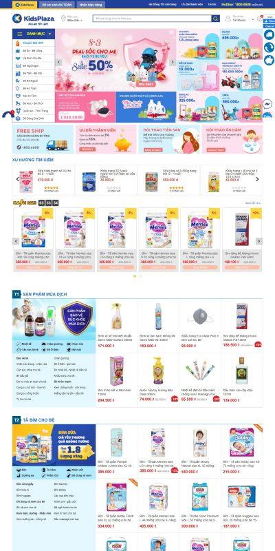 Mẫu thiết kế website bán hàng www.kidsplaza.vn-Kids Plaza – Hệ thống Mẹ Bầu & Em Bé đáng tin cậy nhất Việt Nam