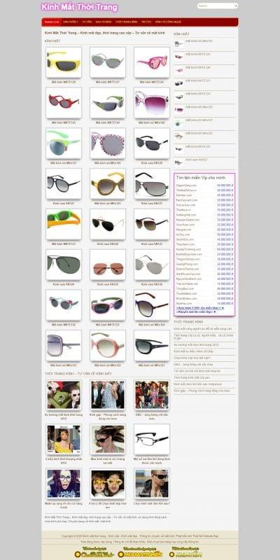 Mẫu thiết kế website bán hàng www.kinhmatthoitrang.com-Kính Mắt Thời Trang – Kính mắt đẹp, thời trang cao cấp – Tư vấn về mắt kính