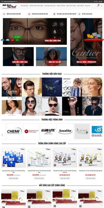 Mẫu thiết kế website bán hàng www.matkinhtanbinh.com-TRÒNG KÍNH – MẮT KÍNH – CAO CẤP – CHÍNH HÃNG