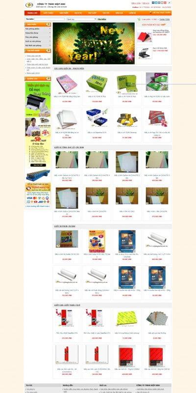 Mẫu thiết kế website bán hàng www.vanphongphamhiepanh.com-Công ty TNHH Hiệp Anh – Văn phòng phẩm hà nội – Chuyên cung cấp Văn phòng phẩm