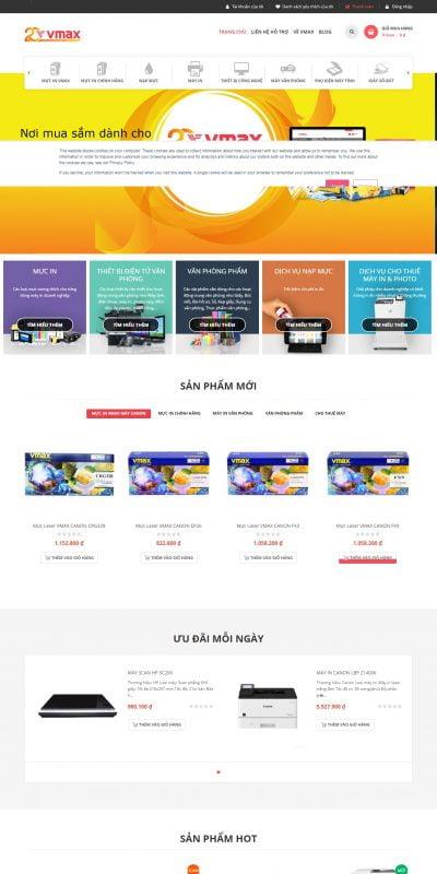 Mẫu thiết kế website bán hàng www.vmax.vn-Siêu Thị Văn Phòng Uy Tín, Hàng Chính Hãng, Cam Kết Giá Rẻ – VMAX.vn