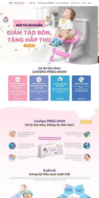 Thiết kế website bán hàng – dược phẩm pregmom.vn – Bào tử lợi khuẩn dành cho tiêu hóa mẹ và bé